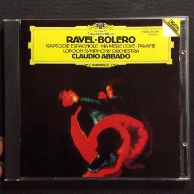 Ravel拉威爾-Bolero波烈露 Abbado阿巴多/指揮 舊版1986年日本版無ifpi