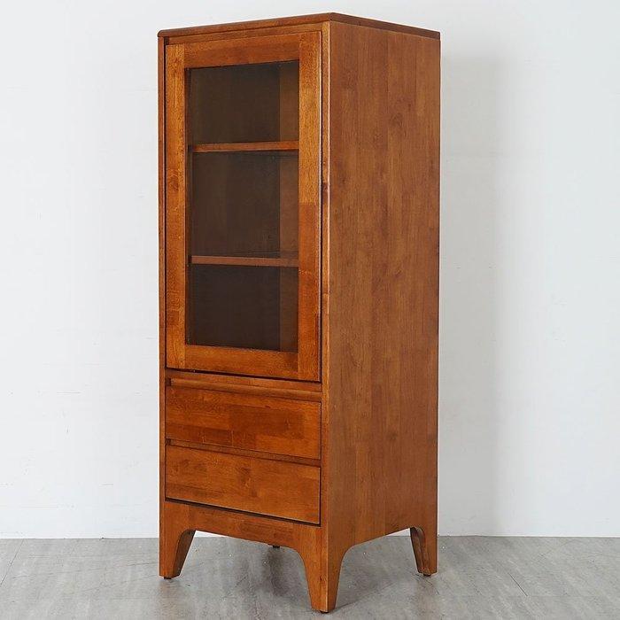 克林實木高置物櫃-柚木色 收納櫃 書櫃 半高櫃【Yostyle】SH-1826T