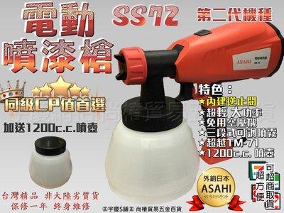 可刷卡分期2018最新日本ASAHI 二代雙噴頭SS72+噴壺共二只 電動噴槍 水泥漆 油漆 電動噴漆槍噴漆TM-71