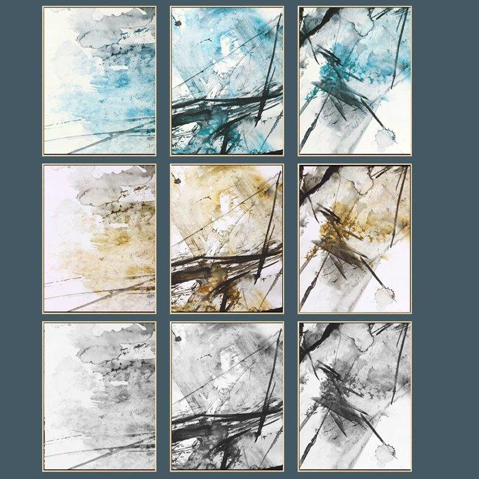 三幅一組油畫布 藝術抽象 畫芯/畫布/30X40☺暖暖屋☺傢居藝術館