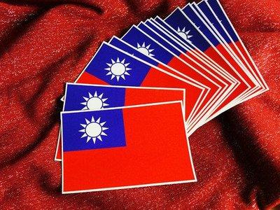 台灣,中華民國。防水貼紙。尺寸約W10X6.6公分