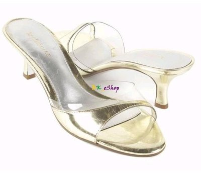【美衣大鋪】☆ Liz claiborne 正品☆ high heel sandals 金色高跟涼鞋
