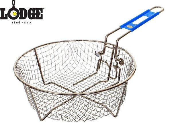 丹大戶外【LODGE】Fryer Accessories 9吋油炸籃/炸雞網/炸薯條/不鏽鋼材質/可動籃柄8FB2