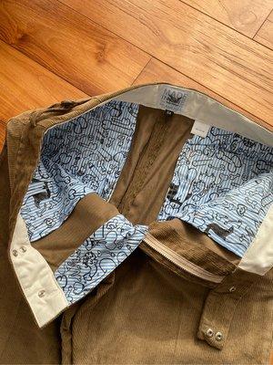 "Mark Mcnairy "" Dick doodle pants "" corduroy trouser size: w32"