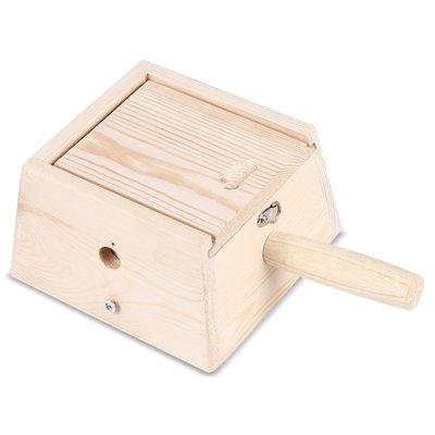方型 4柱 實木艾灸盒 四孔溫灸盒 艾絨艾段用 溫灸器 灸肚子背部