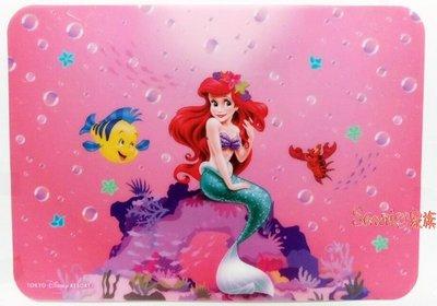 《東京家族》日本迪士尼小美人魚公主愛麗兒粉色 耐溫大餐桌墊