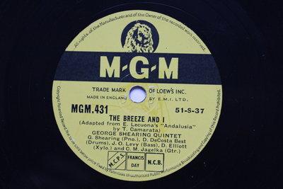 George Shearing 《Indian summer》78轉 10吋 蟲膠唱片 電木唱片