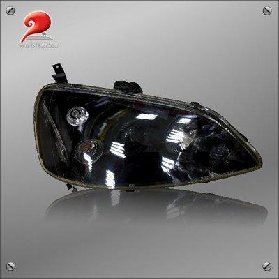 20-5921 K8黑底魚眼右大燈