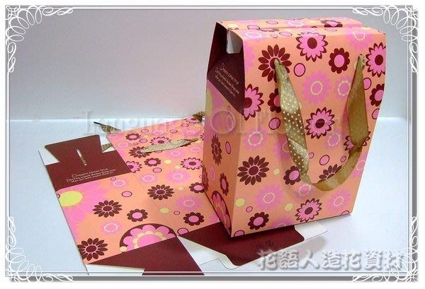 ◎花語人造花資材◎*花款手提盒子(大)*優質禮品包裝袋~婚禮小物~伴手禮品袋