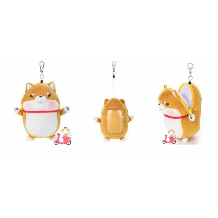{阿猴達可達} 日本限定空運 JAPAN 柴犬娃娃 工作證件卡套 票卡夾 感應卡 多用途頸帶證件頸帶 可伸縮 特價340