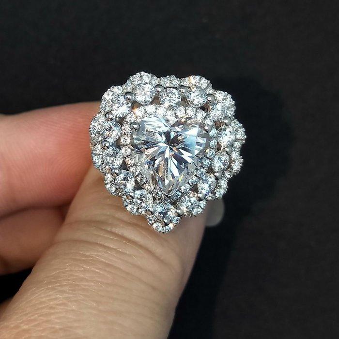 白鑽黃鑽專櫃925純銀包白金戒指 微鑲主鑽4克拉黃鑽包邊高碳鑽石肉眼看是真鑽 超低價鉑金質感高碳仿真鑽石莫桑鑽寶特價優惠