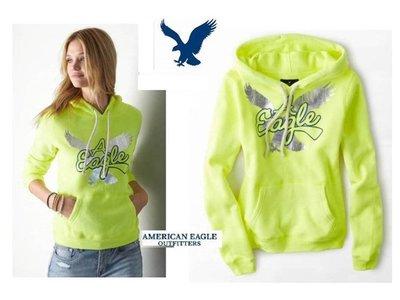 美國正品 AE (American Eagle) 女 美式連帽長袖T / S