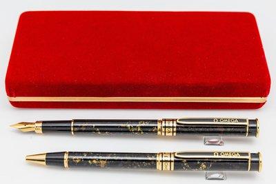 【Penworld】台灣製 OMEGA亞米茄 1400鋼筆對筆 F尖