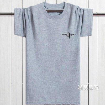 夏季中年男士短袖T恤圓領棉質寬鬆休閒大尺碼厚款半袖爸爸裝父親裝2XL-7XL