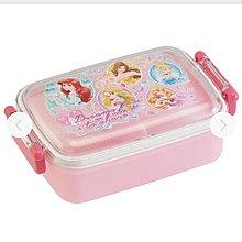 (現貨) 日本製 聚丙烯 450ml 約17x10.5x6cm  兩側開合 密實 長方型 餐盒 Disney Princess 迪士尼 公主系列 日本直送 全新