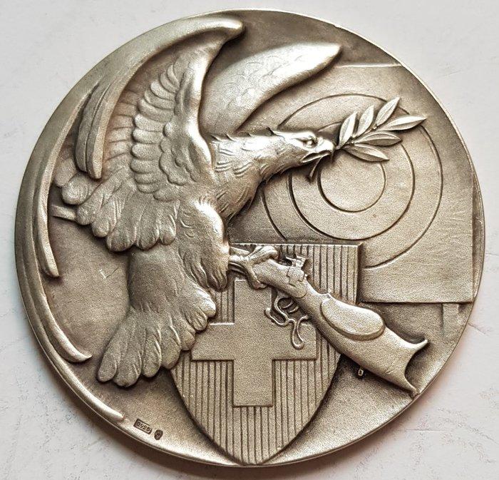 瑞士銀章 1938 Zurich EKSV Silver Shooting Medal.
