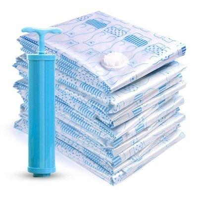 【蘑菇小隊】華邦抽真空壓縮袋11件套送手泵 大號加厚棉被子衣物真空袋收納袋-MG97297