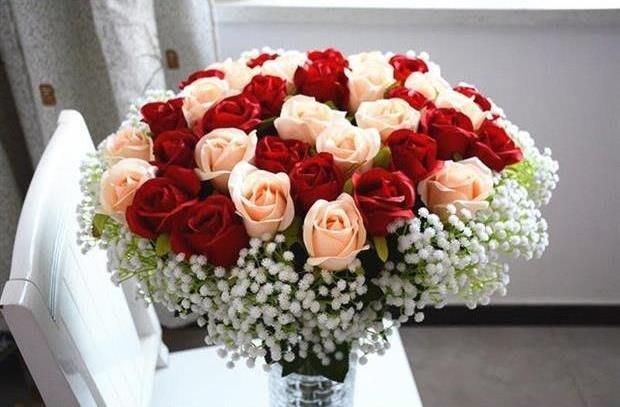 [C.M.平價精品館]部份現貨/歐洲手感保濕仿真玫瑰花 家居客廳裝飾花高檔仿真人造花