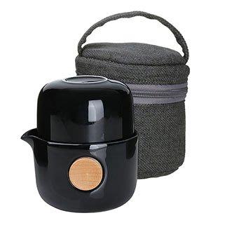 免運【回甘草堂】宜龍 QUICKER布包雙享泡-亮黑(250ml) 泡茶利器 隨時隨地可泡茶