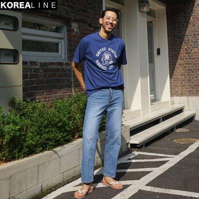 KOREALINE搖滾星球 / 直筒刷色牛仔褲 / 2色 / KS11130