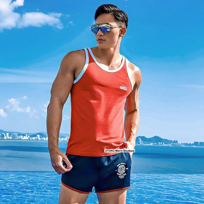 【OTOKO Men's Boutique】MOEA墨立方運動短褲/三分褲/睡褲/居家褲/深藍色(台灣獨家代理)