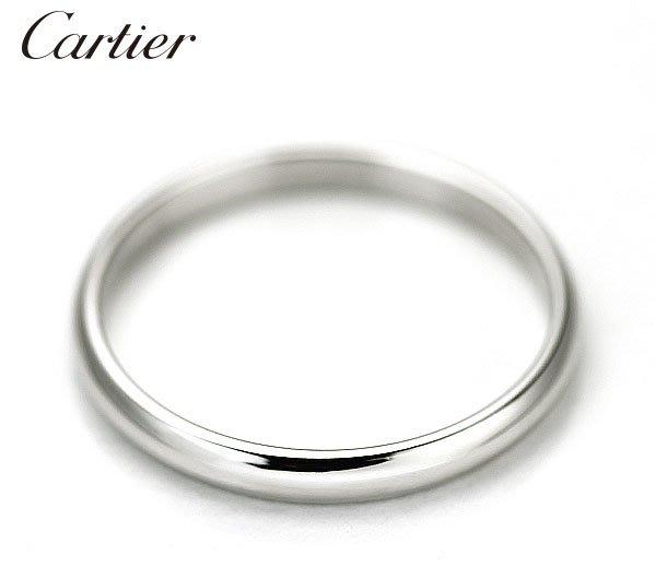 *保證真貨~知名品牌Cartier卡地亞-1895經典款婚戒 PT950鉑金戒 歐洲圍57號 ~超低價起標