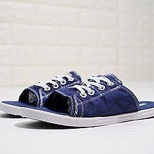 D-BOX  CONVERSE All Star Cutaway EVO 涼拖 休閒拖鞋 輕便 復古 深藍白