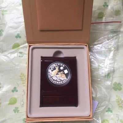 台銀 2011年 兔年 鍍金版生肖精鑄銀幣 紀念幣 吐瓦魯