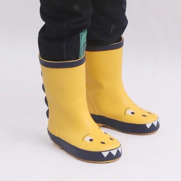 可愛恐龍兒童雨鞋男童防滑寶寶雨靴女韓國小童防水鞋套鞋膠鞋春夏