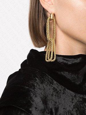 【WEEKEND】ROSANTICA Onore 大尺寸 鍊條 一對 耳環 金色