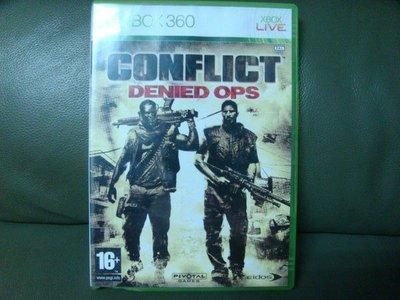 影音加油站-電玩遊戲(XBOX360遊戲)火線交錯CONFLICT:DENIED OPS(美版)直購價350元