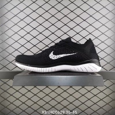 Nike Free RN Flyknit 赤足 5.0 編織 黑白 慢跑情侶鞋831069-001 台北市
