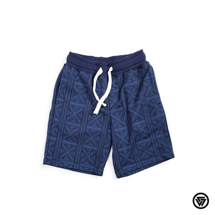 SQUAD 2015 S/S  Casual Sports Cotton Shorts 休閒運動棉短褲 圖騰藍