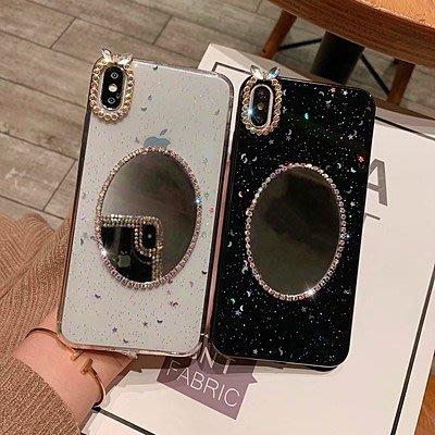 蘋果手機 亮鑽鏡面手機殼保護套 防摔殼 IPhone6 6s 7 8 Plus X / XR MAX i7 i8