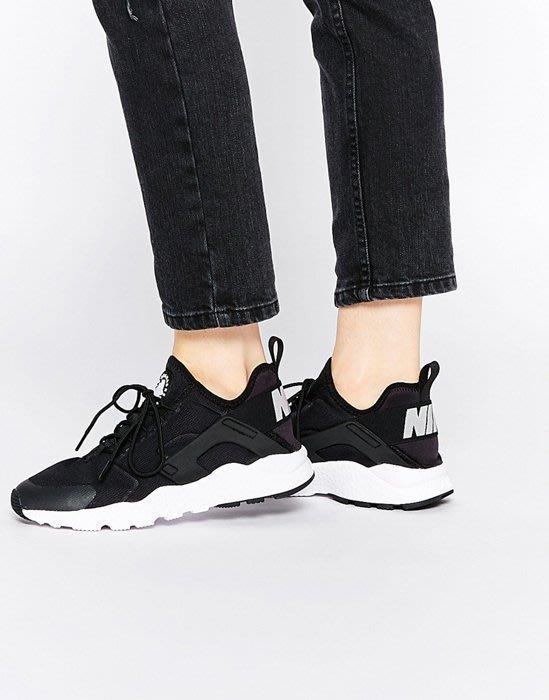 現貨。Nike Air Huarache Run Ultra 武士鞋 黑武士二代 819151-001 黑白 24cm