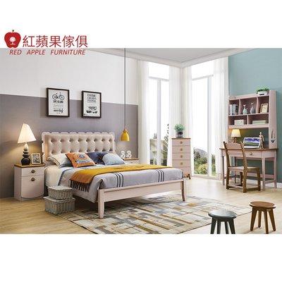 [紅蘋果傢俱] LOD-616 5尺床(另售床頭櫃 書桌 書椅) 實木床 兒童床 臥室組