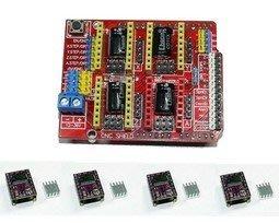 【AI電子】Arduino CNC Shield V3 + DRV8825 x4 套餐 Grbl 雷射 雕刻機 3D印