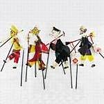 【動感皮影-西遊記四人-高31cm-4件/套-1套/組】特色工藝品皮影裝飾畫送朋禮品帶操作杆可操作-36006
