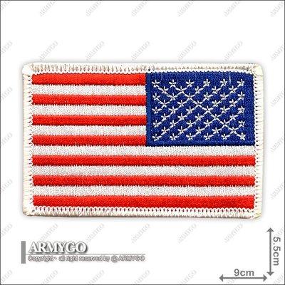 【ARMYGO】美國國旗 (彩色白邊朝右版)