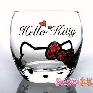 東京家族 kitty 施華洛世奇水晶 玻璃杯 紅色蝴蝶結