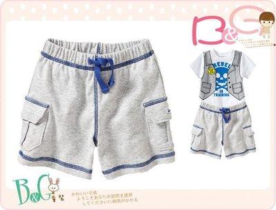 【B& G童裝】正品美國進口OLD NAVY雙口袋灰色棉質短褲12-18mos