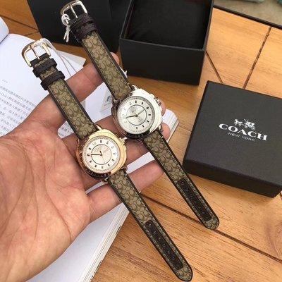 DanDan代購 美國正品 COACH錶 時尚帆布錶帶手錶 潮流貴氣石英女士錶 優惠特價款