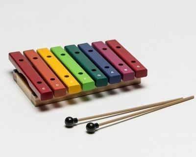 【華邑樂器53012-1】HAOSEN 豪聲 彩虹8音桌上小木琴-音筒色 (附琴槌 台灣製造 HXOS-8CN)