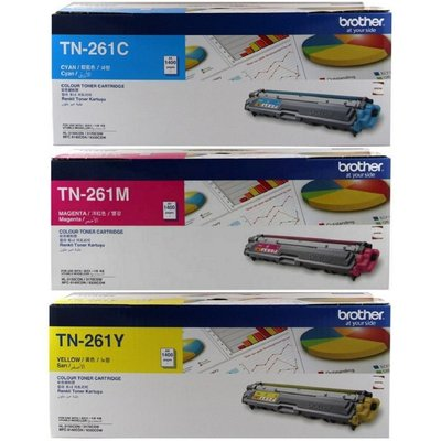 《含稅》BROTHER TN-261 C/M/Y 藍/紅/黃色 原廠碳粉適用HL-3170CDW MFC-9330CDW