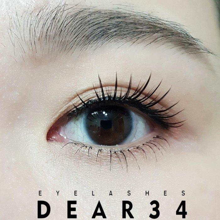《Dear34》S-1硬梗根根分明眼尾加長假睫毛上睫毛一盒五對入