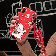 三星手機殼 三星j7/j5新年鈴鐺j3/pro可愛招財貓腕帶j510/j710手機殼套