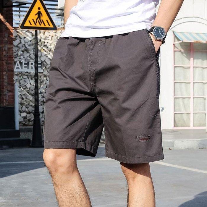 休閒短褲夏季中年男士 爸爸裝棉質寬鬆五分外穿 AL130