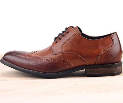 男款 英式尊爵雕花牛津木紋跟 MIT手工質感皮鞋 牛津鞋 樂福鞋 紳士鞋 尖頭鞋 棕色