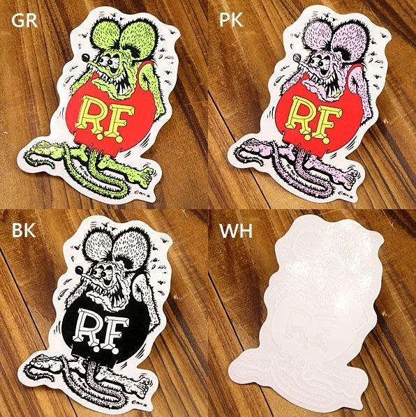 (I LOVE樂多)原版RAT FINK RF老鼠芬克 經典圖樣車貼(小張下標區)有大張及小張可供你選擇