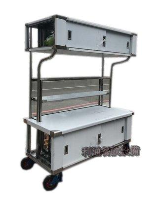 《利通餐飲設備》AE-(B02) 平面-車仔台 燈箱型 玻璃吧台 攤車 車仔台 移動式攤車 活動攤車
